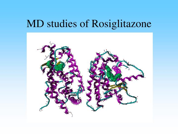 MD studies of Rosiglitazone
