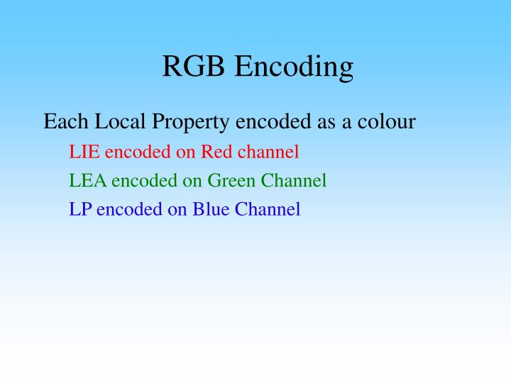 RGB Encoding