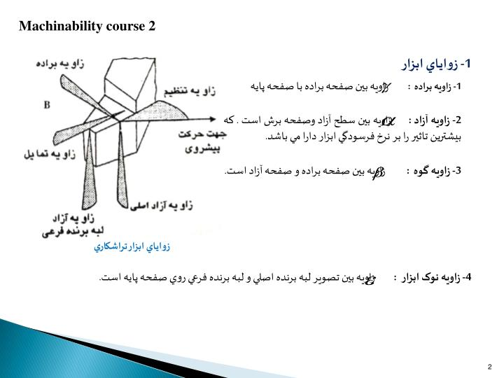 Machinability course 2