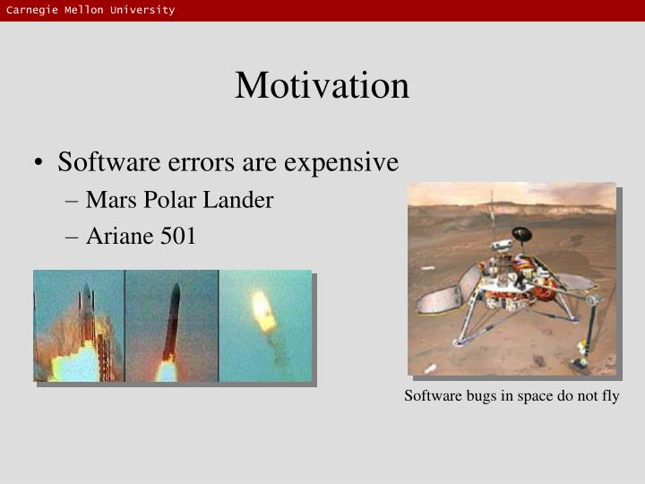Software bugs in space do not fly