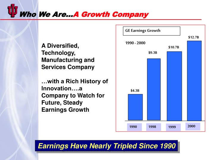 Who we are a growth company