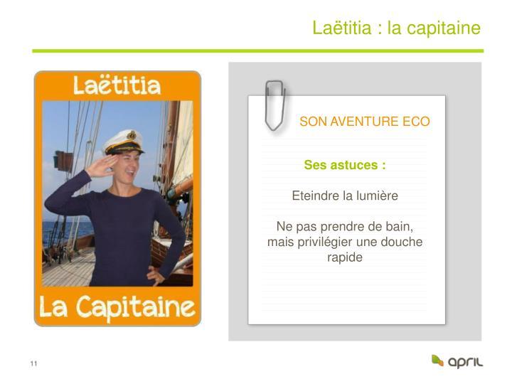 Laëtitia : la capitaine
