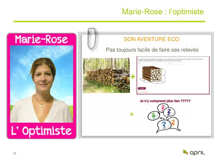 Marie-Rose : l'optimiste