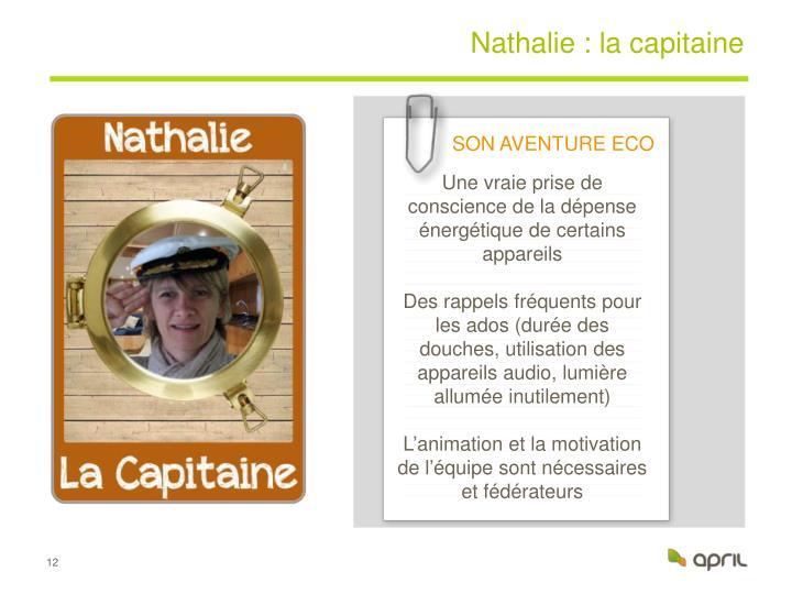 Nathalie : la capitaine
