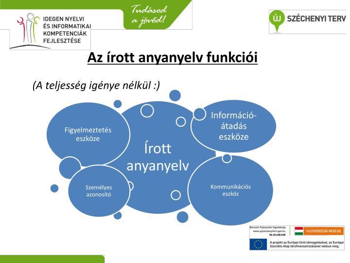 Az írott anyanyelv funkciói