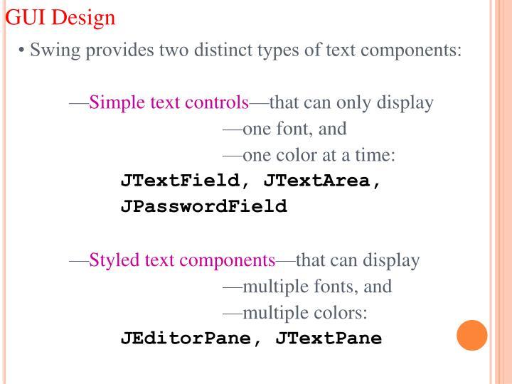 GUI Design