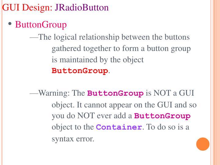 GUI Design: