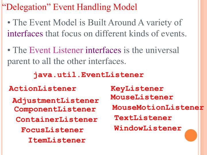 """""""Delegation"""" Event Handling Model"""