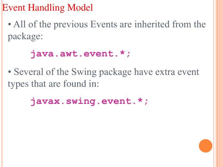 Event Handling Model