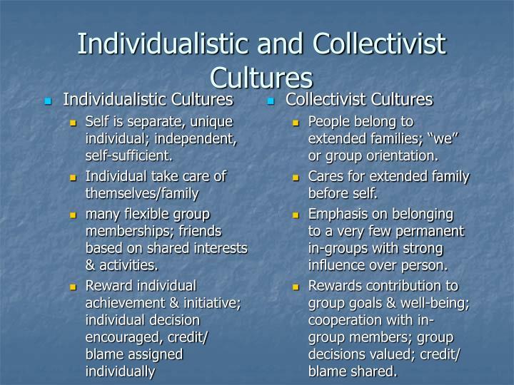 Individualistic Cultures