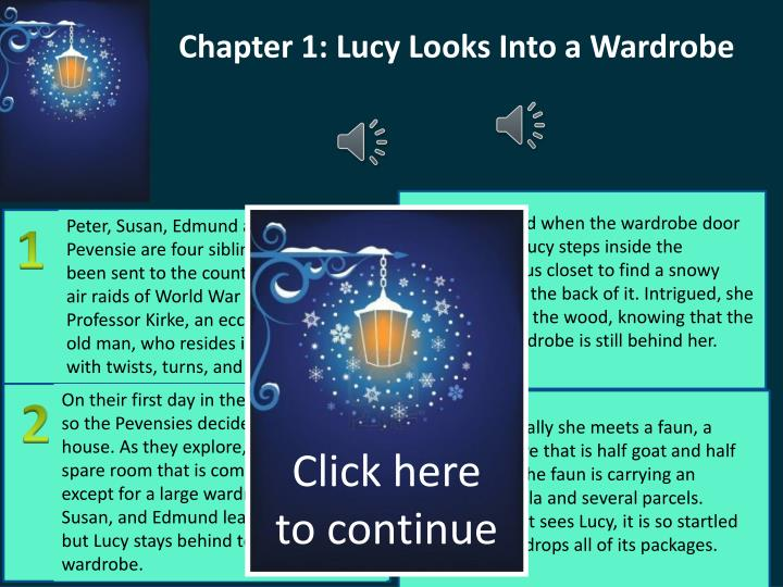 Chapter 1: Lucy Looks Into a Wardrobe
