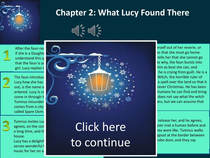 Chapter 2: What Lucy Found There