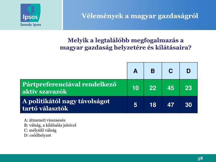 Vélemények a magyar gazdaságról