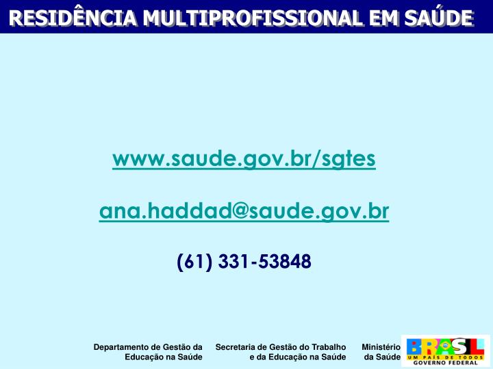 www.saude.gov.br/sgtes