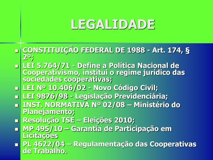 LEGALIDADE