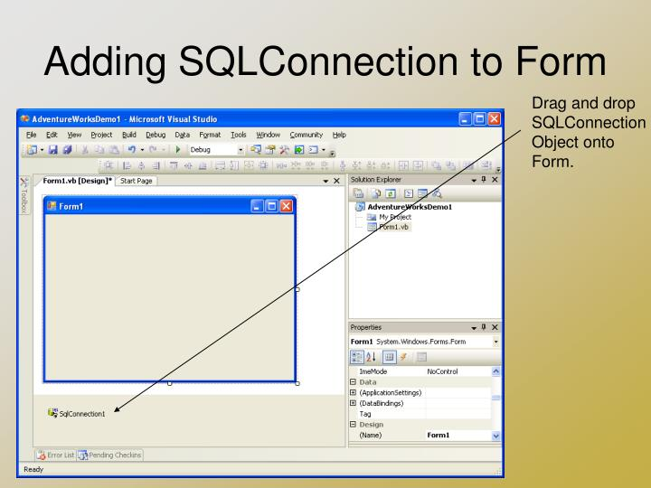 Adding SQLConnection to Form