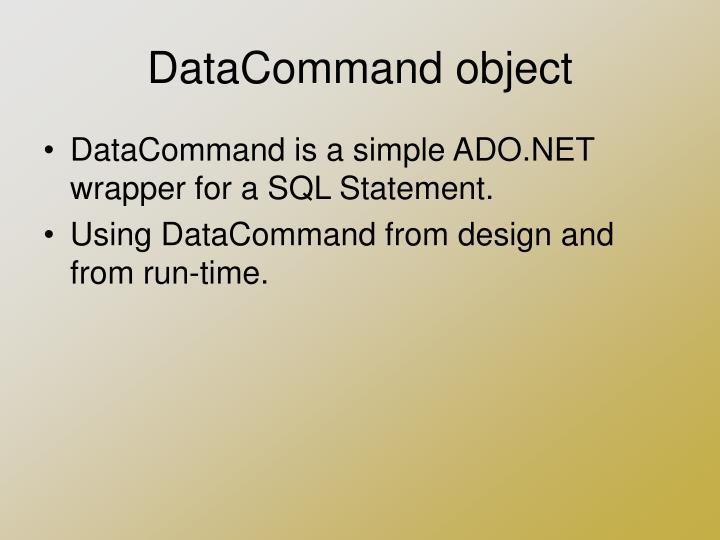 DataCommand object