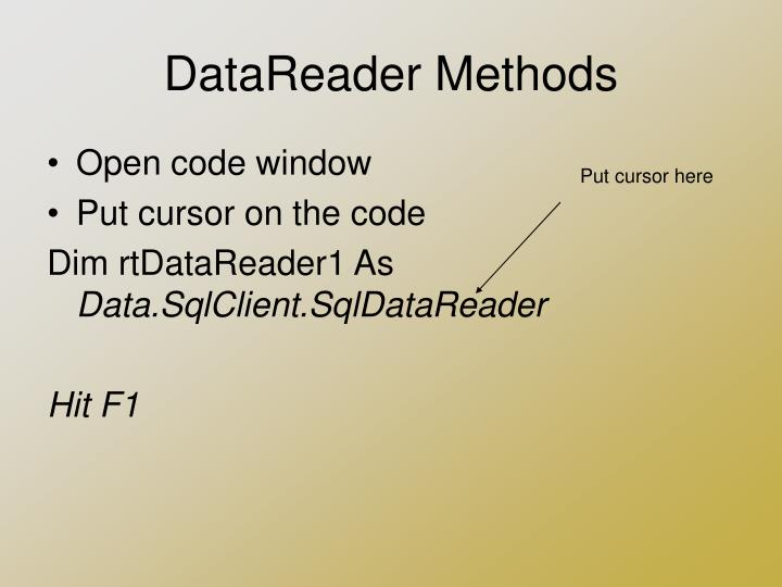 DataReader Methods