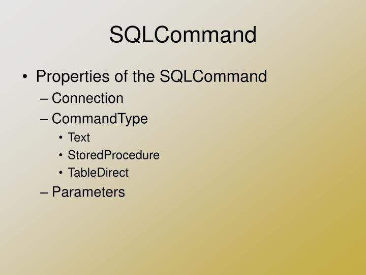 SQLCommand