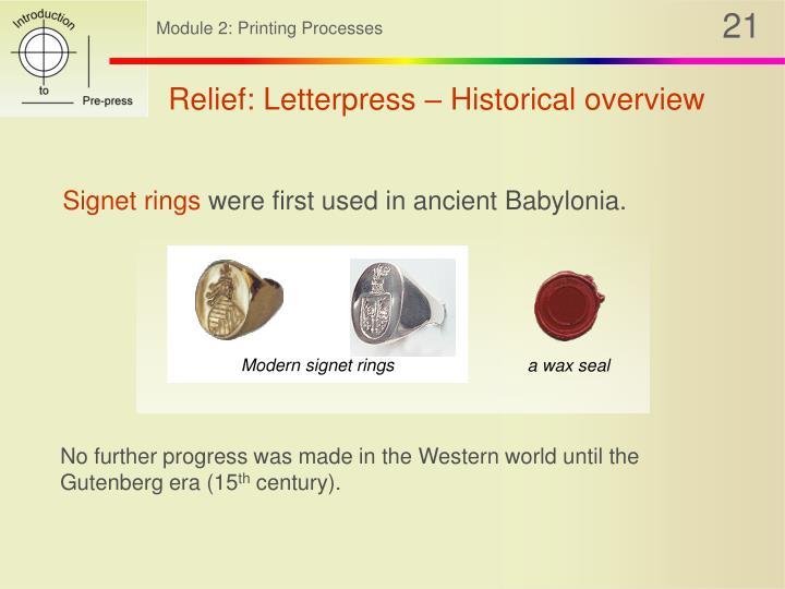 Modern signet rings