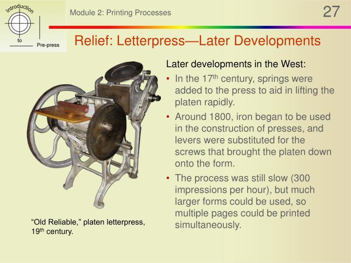 Relief: Letterpress—Later Developments