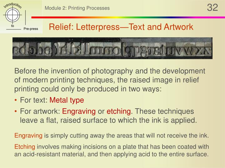 Relief: Letterpress—Text and Artwork