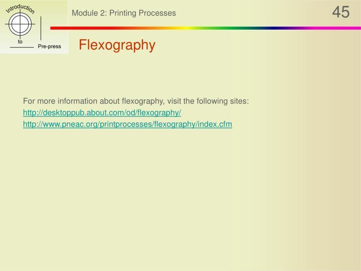Flexography