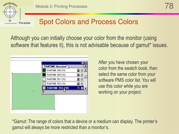 Spot Colors and Process Colors