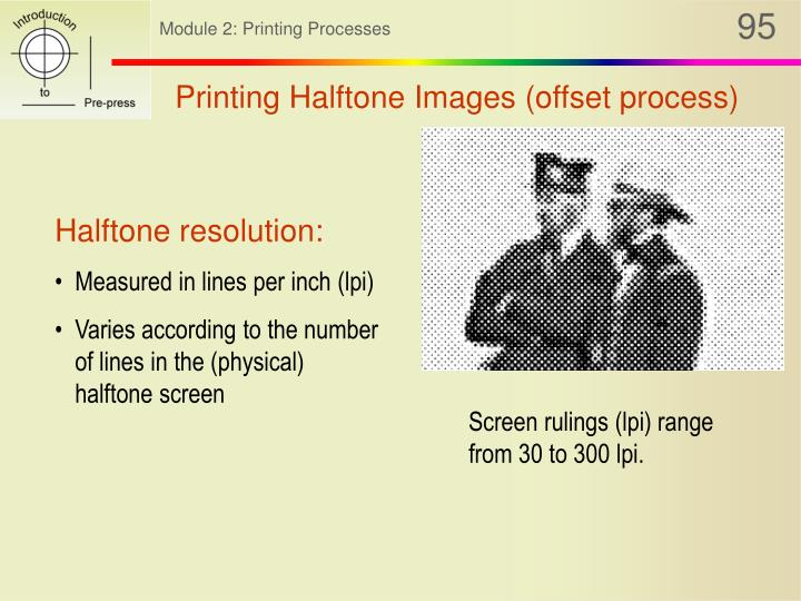 Printing Halftone Images (offset process)