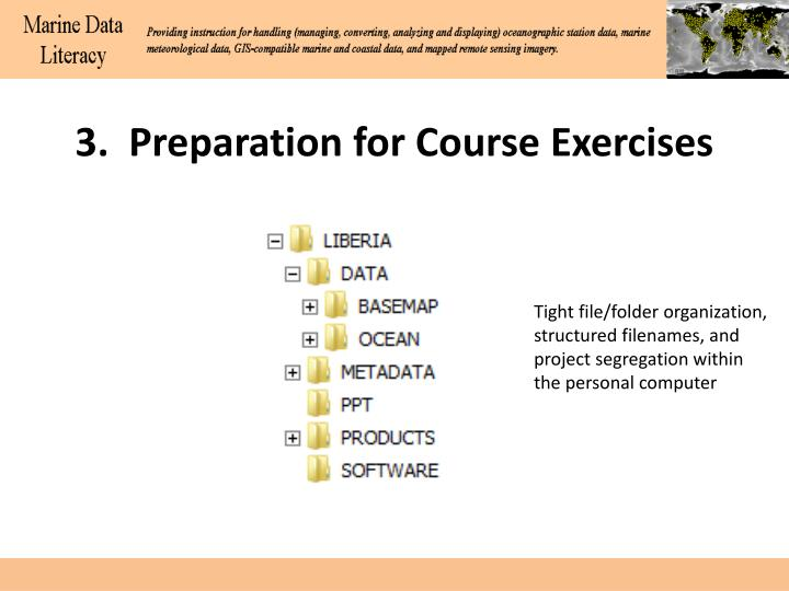 3.  Preparation for