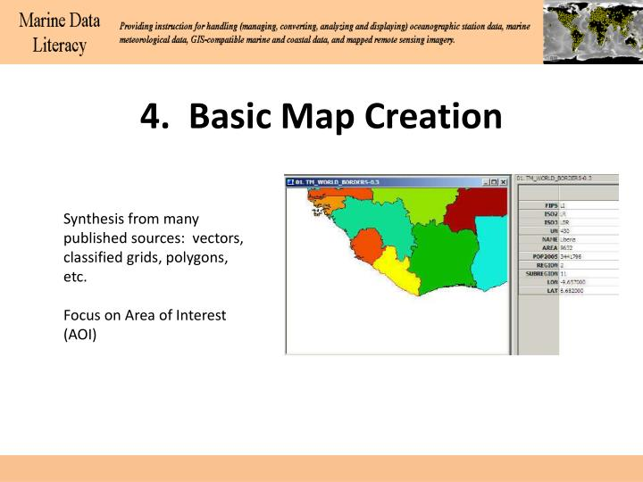 4.  Basic Map Creation