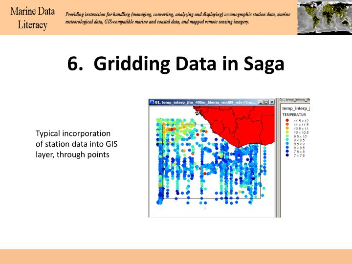6.  Gridding Data in Saga