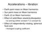 accelerations libration
