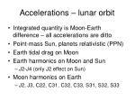 accelerations lunar orbit