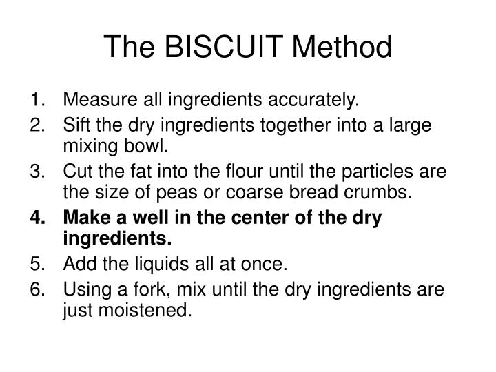 The BISCUIT Method