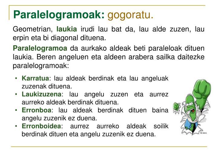 Paralelogramoak: