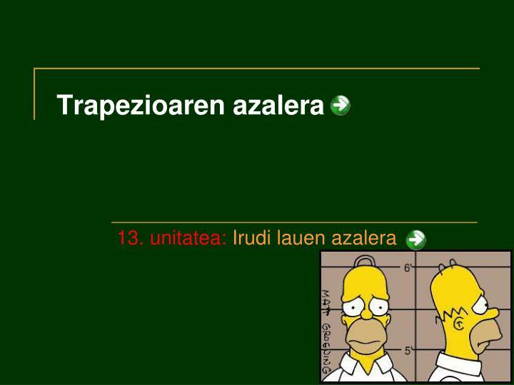 Trapezioaren azalera