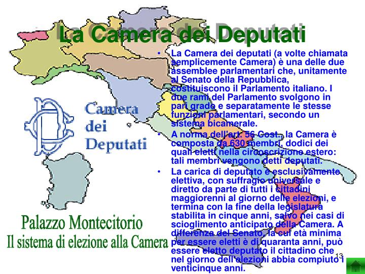 Ppt il governo dello stato italiano powerpoint for La camera dei deputati