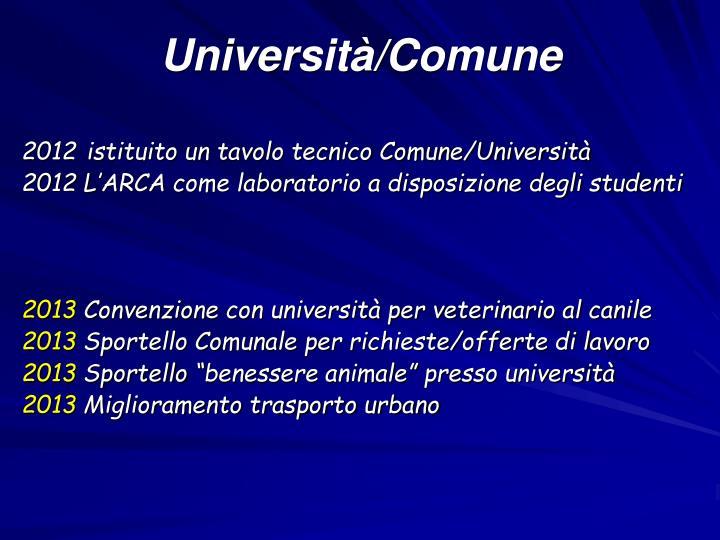 Università/Comune