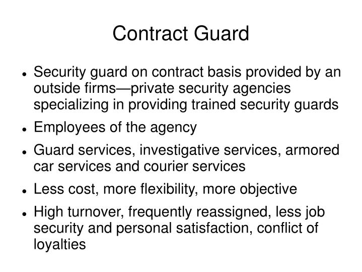 Contract guard