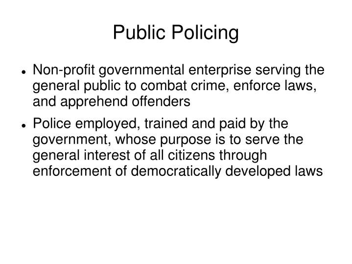 Public Policing