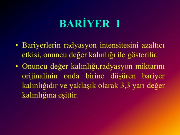 BARİYER
