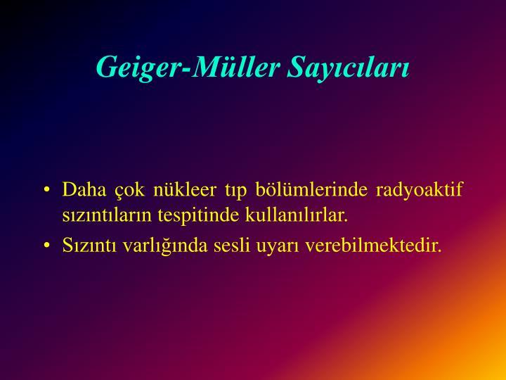 Geiger-Müller Sayıcıları