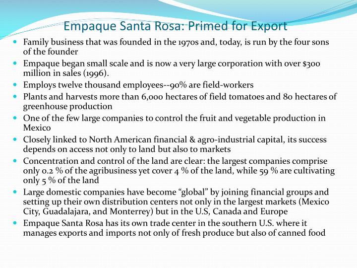 Empaque Santa Rosa: Primed for Export