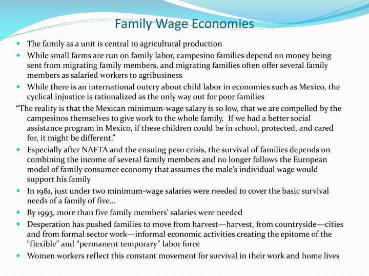 Family Wage Economies