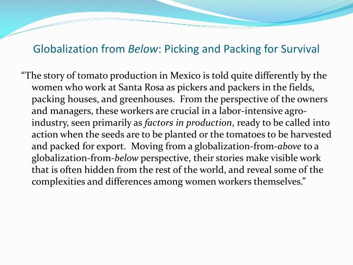 Globalization from