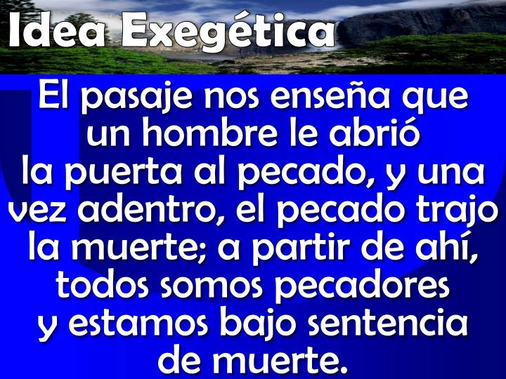 Idea Exegética