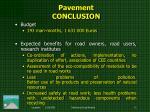 pavement conclusion