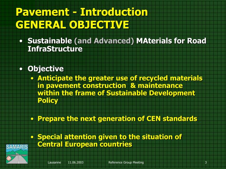 Pavement i ntroduction general objective