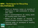 wp 6 techniques for recycling deliverables